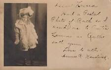 Antique REAL PHOTO POSTCARD c1907 Ruth Kendrick Young Girl ROCHESTER, NY 17755