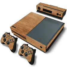 XBox One Console and Controller Skins -- Light Wood Grain (#0237)