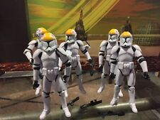 STAR WARS Clone Trooper assortment lot of 5,  3 3/4 inch figures NEW ships free!