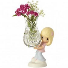 Precious Moments 154005 Girl With Bud Vase Figurine New & Boxed