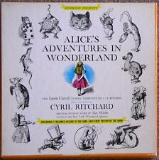ALICE'S ADVENTURES IN WONDERLAND ~ AUDIOBOOK ON 4 VINYL LPs + ILLUSTRATED BOOK
