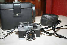 YASHICA 35-ME Compact 35mm Film Camera with large bag and small pouch