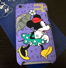 For iPod Touch 4th Generation - HARD SNAP ON SKIN CASE COVER PURPLE MINNIE MOUSE