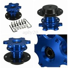 Car Blue Steering Wheel Quick Release HUB Racing Adapter Snap Off Boss Kit new