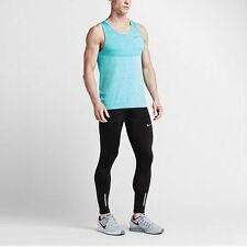 Nike Dri-FIT Knit Men's Running Singlet Tank Top L Blue Gym Training  New