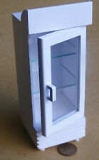 1:12 Scale White Painted Single Door Display Cooler Doll House Miniature Shop