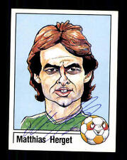 Mathias Herget Deutschland Panini Sammelbild 1987 Original Sign+ A 116320
