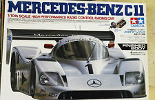 New VINTAGE TAMIYA 1/10 RC MERCEDES-BENZ C11 Finished Body MODEL KIT