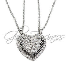 Mom Mother & Daughter Best Friend Mother's Day Gift Heart Pendant Necklace Charm