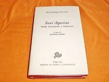 don giuseppe de luca sant'agostino scritti d'occasione e traduzioni 1986