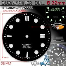 DIAL SUBMARINER CLASSICAL 500M/1640 FT Ø 32 mm, ETA 2824-2, SW 200, SUPER LUM C1