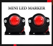 2 x 12V SMD LED ROUGE MINI FEUX DE GABARIT CAMION CARAVANE REMORQUES m.0251L