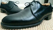 JOHN LOBB *Bespoke* BLACK LEATHER 2-Eyelet Plain Toe DRESS SHOES //  7 D