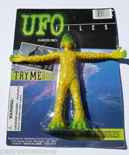UFO FILES BENDABLE FIGURE YELLOW ALIEN ~FREE SHIPPING~