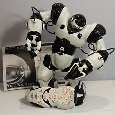 Robosapien Remote Control Robot White Black Dance Tested Works WowWee Humanoid