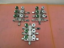 3 AMAT Gas Manifold Assembly with Pneumatic valve, VCR fitting