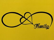 INFINITY FAMILY LOVE HEART INFINITY FOREVER SYMBOL Vinyl Sticker Wall Home Love