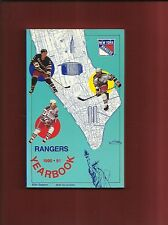 1990-91 New York Rangers Media Guide---Leetch