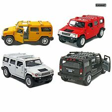 "NEW Set of 4: 5"" 2008 Hummer H2 SUV 1:40 Scale (Black/Red/White/Yellow)"