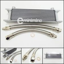 Classic Mini Oil Cooler 10 Row Kit INCLUDING BRAIDED Hoses austin car pipes