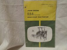 Vintage John Deere Operator's Manual RA4 Four-Row Row-Crop Cultivator - New!