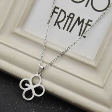 Kpop EXO Lucky One Chain Necklace Jewelry Four Leaf Colver Pendant Women Gifts