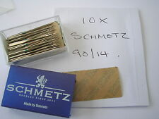 10 SCHMETZ SEWING MACHINE NEEDLES 90/14 FITS BERNINA PFAFF JANOME TOYOTA BROTHER
