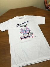 VTG SPUDS MACKENZIE BUD LIGHT PARTY ANIMAL 1986 T SHIRT USA 50/50 THIN NEW M