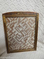 ANTIQUE WOODEN ART NOUVEAU GILDED, GESSO PICTURE FRAME