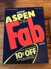 vintage Aspen Magazine December 1966 S4 vol 1 no 3 Fab issue by any Warhol