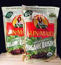 2 Bags Sun Maid California ORGANIC Raisins 2 lbs each Total 4 lbs