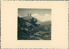 France, Haut-Queyras, près de Col Vieux, au fond la Tête du Pelvas    Vintage si