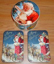 Christmas Santa Claus Tins lot of 3