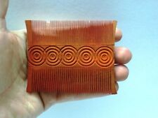 VINTAGE INDIAN WOODEN HAND CARVED HAIR COMB / KANGI / PEIGNE / KAMM COLLECTIBLE