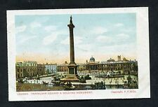 C1910 View of Trafalgar Square & Nelson's Monument, London.