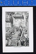 Coronation of Nicholas I of Russia - 1901 Historical Print