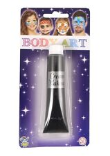 BLACK Face Paint Cream Make Up - Halloween Party Costume Fancy Dress U09 813