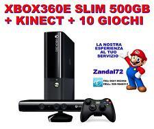 MICROSOFT XBOX360 E 500GB SPECIALE + KINECT READY + 10 GIOCHI GARANZIA 24 MESI