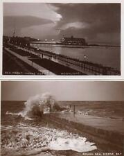4  Herne Bay Pier Reculver unused RP old pcs Fred C Palmer