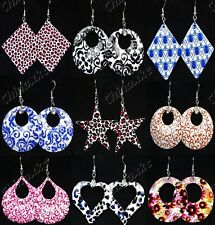 10Pairs Wholesale Jewelry Lots Mix Printing Fashion Drop Earrings Free Shipping