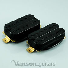 New VANSON HOT Hex-pole Humbucker Pickup SET, for Ibanez, Epiphone etc N&B Black
