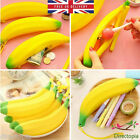 Silicone Banana Pencil Case Coin Purse Wallet Make Up Cosmetic Bag Pouch UK