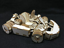 Laser Cut Wooden Go Kart 3D Model/Puzzle Kit