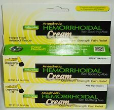 2 Anesthetic Hemorrhoidal Treatment Cream Heals Tissue Max Strength Pain Releif