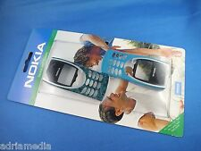 Original NOKIA 8210 Xpress-on Front Back COVER OBERSCHALE SKR-173 Pied Teal Blue