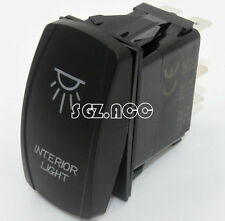 INTERIOR LIGHT Rocker Switch Laser Etched Blue Carling Style Landcruiser Patrol