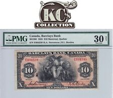 "1935 Barclays Bank ""Montreal"" $10 PMG VF 30"