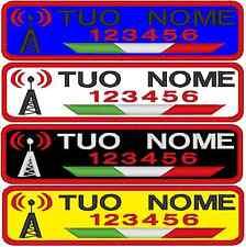 Patch nome toppa personalizzata RADIOAMATORE RADIO AMATORE TERMOADESIVO O VELCR.