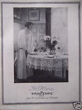 PUBLICITÉ 1924 LE BLANC AU PRINTEMPS PARIS - ADVERTISING