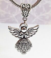 *Guardian Angel*_Bead Pendant For European Charm Bracelet Necklace_Christmas _F7